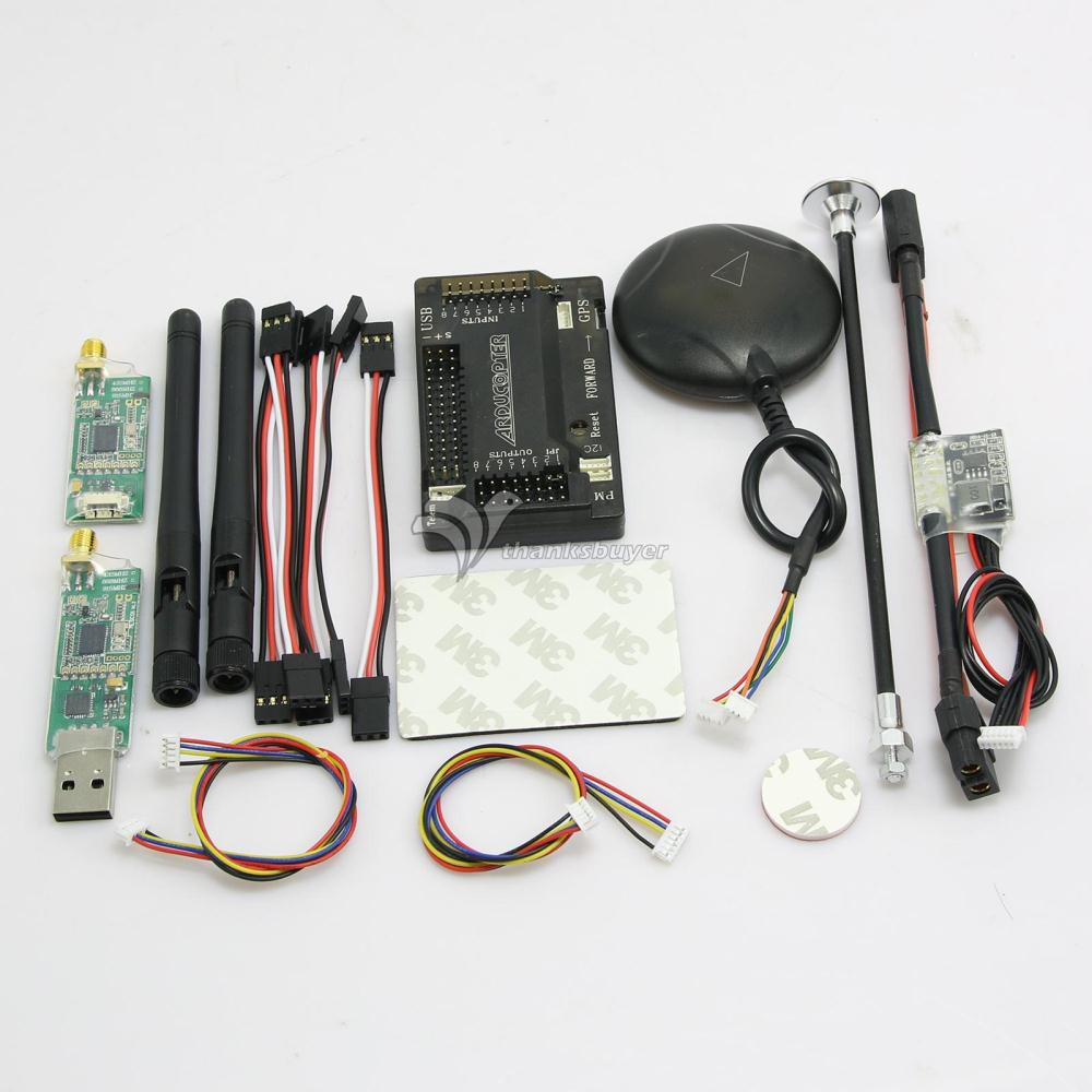 APM V2.8.0 Flight Controller with Ublox Neo-6M GPS & Power Module & 3DR Radio Telemetry for FPV Multicopter apm 2 6 ardupilot flight controller gps 3dr radio telemetry minimosd current sensor