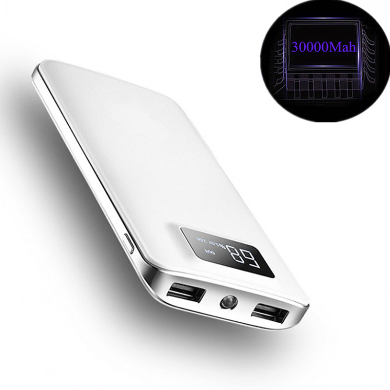 Motivated 30000mah Power Bank External Battery Poverbank 2 Usb Led Powerbank Portable Mobile Phone Charger For Xiaomi Iphone Huawei Collectibles