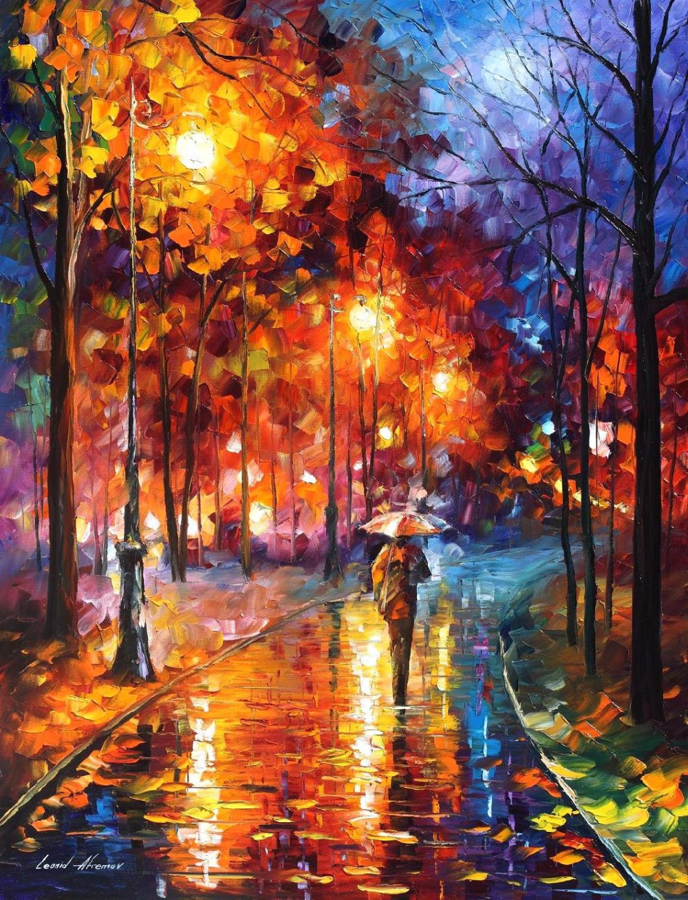 Painting Colorful Oil Paintings Canvas Christmas