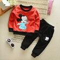 New Arrival 2017 Spring Baby Gilrs Boys Clothes Sets Cotton Cartoon Infant T Shirt+Pants 2 Pcs Kids Suits Children Casual Suits