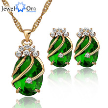 Women's Crystal Gold Color Jewelry Set Fashion Party Rhinestone Jewelry Set Gift Set for Her(JewelOra JS100243)