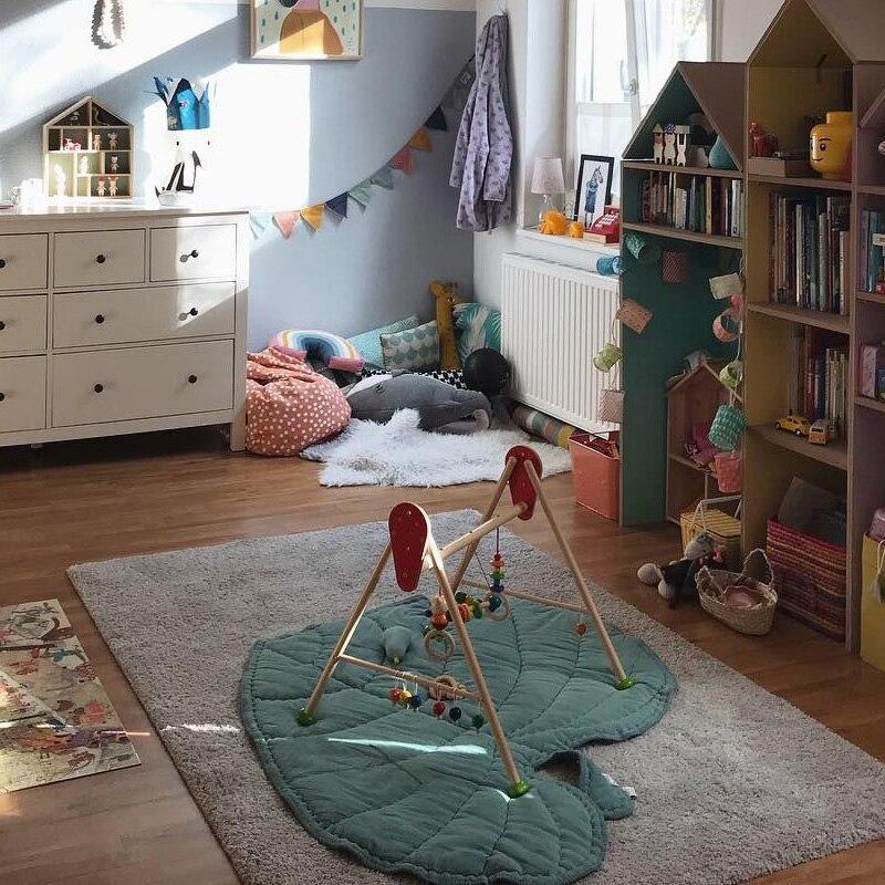Kids Bady Soft Toys Sweat-heat Leaf Blanket Cotton Crawl Mat Kids Baby Mats Toys Carpet  0-6 Years Bady Creeping Mat