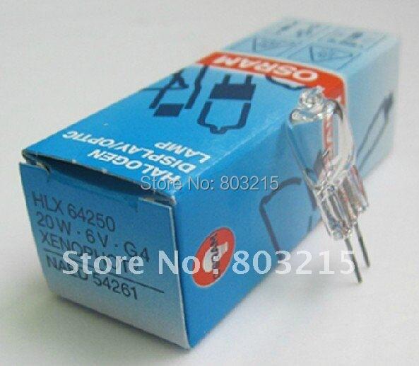 DHL Free shipping OSRAM HLX64250 6V20W bulb,Xenophot NAED 54261,ESB M/30,display optic hlx 64250 6v 20w g4 halogen lamp