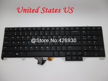 Laptop Keyboard For ALIENWARE 17 R2 P43F Black United States US NSK-LC1BC 01 PK1318F1A00 With Backlit New