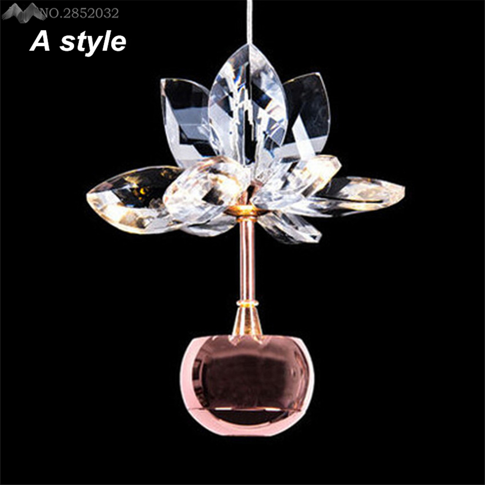 Nordic Modern Lustre Crystal Apple Led Pendant Lamp