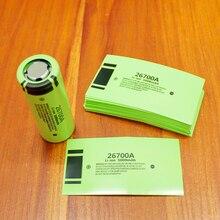 100 개/몫 리튬 배터리 26700 패키지 열 수축 튜브 배터리 커버 배터리 커버 PVC 절연 열 수축 필름 5000MAH
