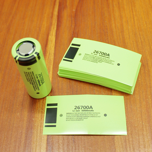 Image 1 - 100pcs/lot Lithium Battery 26700 Package Heat Shrink Tubing Battery Cover Battery Cover PVC Insulation Heat Shrink Film 5000MAH