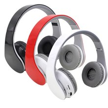 3.5mm Foldable Wireless Bluetooth Headphone Over Ear Stereo Earphone Music Headset FM Hands-free w/Mic for Smart Phones