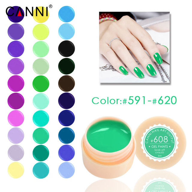 #591-620 141C CANNI rozkoszować się malowanie żel 5 ml Czyste Kolory stałe LED/Projekt farby CANNI Żel Kolorowy Żel UV Do Paznokci paznokci lakier