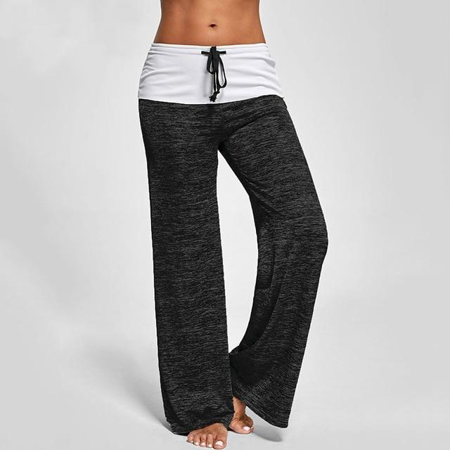 Women Wide Leg Pants Plus size harem leggings loose joggers streetwear gym  activewear solid balck red long pant pantalones mujer f6e3bea74572