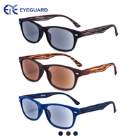 EYEGUARD 3 Pack Unisex Classic of Style Sunglasses Readers UV400 Protection Outdoor Reading Glasses for Men and Women