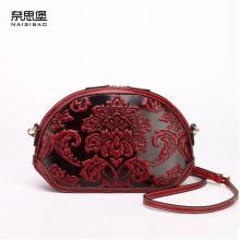 Famous brand top quality dermis women bag  Retro Messenger Bag Fashion shell bag China wind embossment shoulder bag
