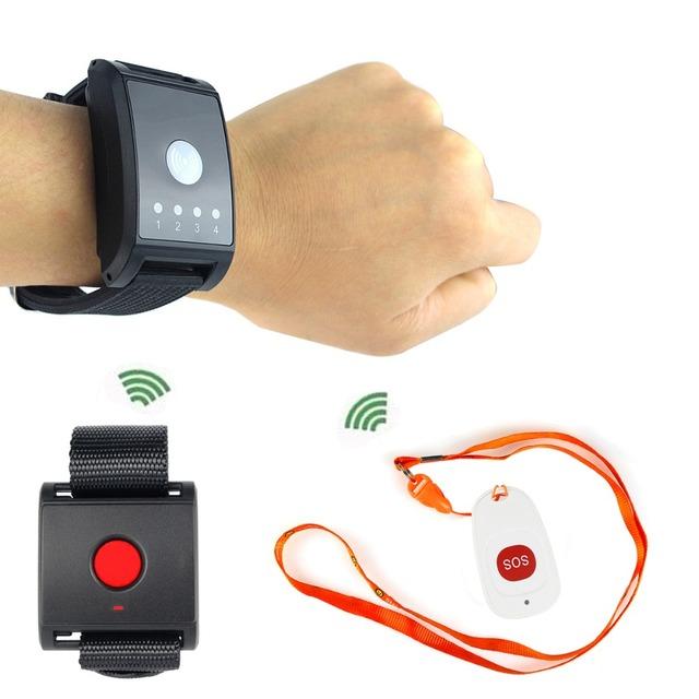 Sistema de Paginação sem fio Sistema de Chamada para o Paciente De Emergência SOS idosos Crianças F4447A do lar de idosos