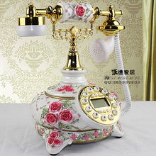 The new rural antique telephone landline continental retro fashion rose wedding gift craft