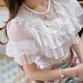 Dabuwawa all match white o neck blouse