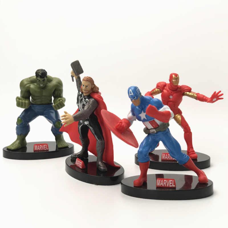 Marvel super herói vingadores endgame figura de ação batman hulk homem de ferro américa modelo anime brinquedos para crianças