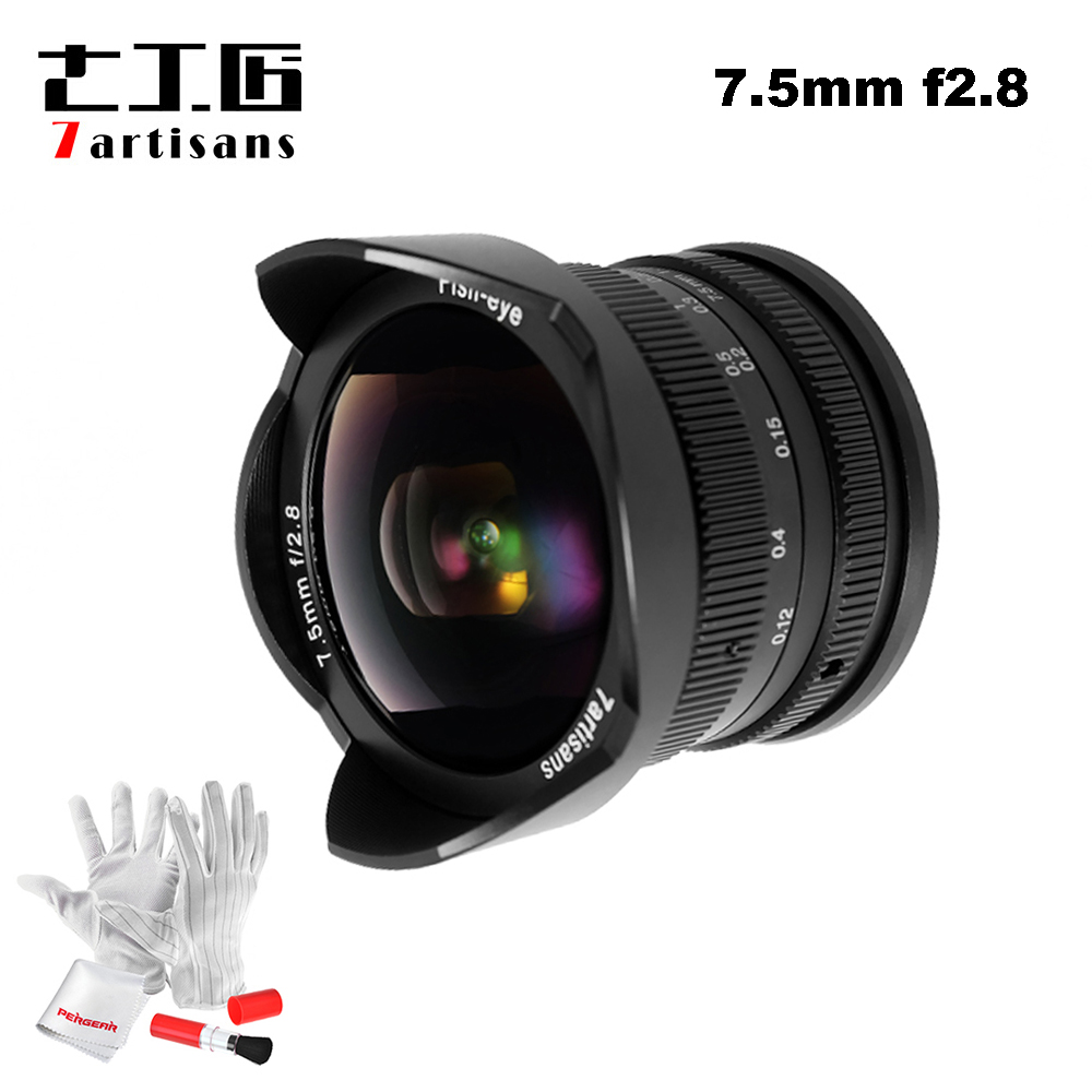7 ремесленников 7,5 мм F2.8 F/2,8 рыбий глаз 180 градусов применяются ко всем одной серии для E крепление/для Micro 4/3 беззеркальных Камера