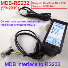 лучшая цена New 2019 MDB-RS232 MDB payment device  to PC RS232 converter (Support MDB coin validator,bill acceptor,cashless and USD device)