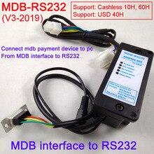 Новый 2019 MDB-RS232 MDB оплаты устройства к ПК RS232 конвертер (Поддержка MDB устройство для проверки монет, купюроприемник, безналичных и USD устройства)