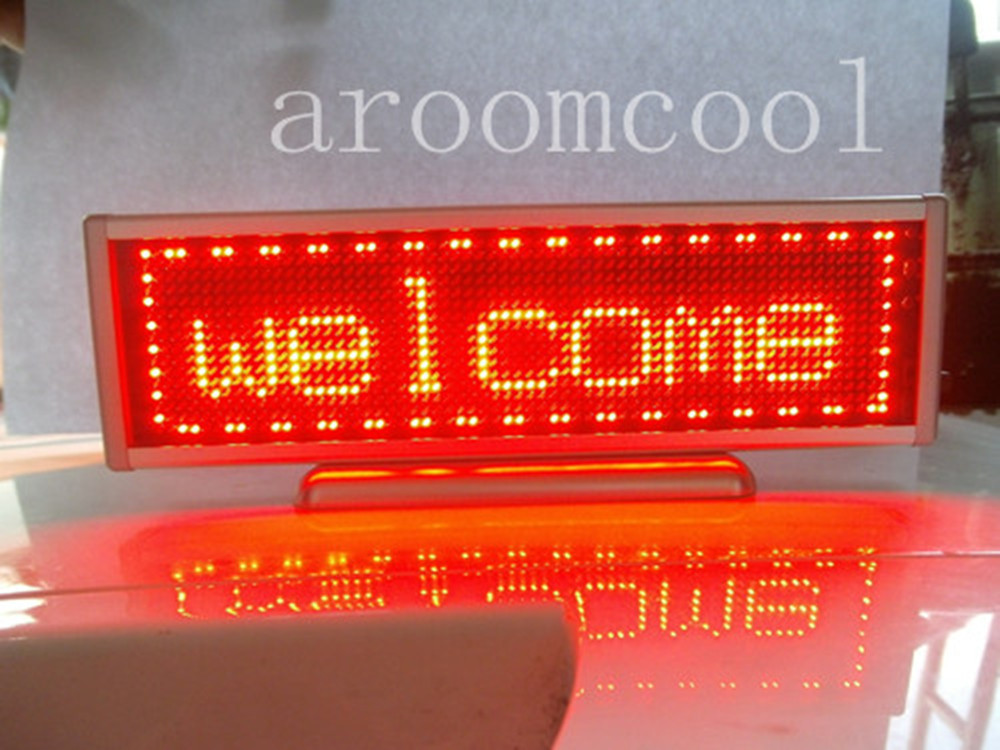 Red Programmable LED Message Display Panel Board 16x64 p10 real estate project hd clear led message board 2 years warranty