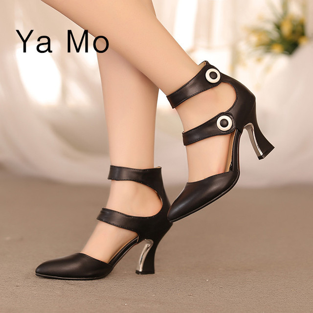 New sexy high heels pumps women white stiletto heels black pumps shoes pointed toe ankle strap pink wedding shoes woman 2017