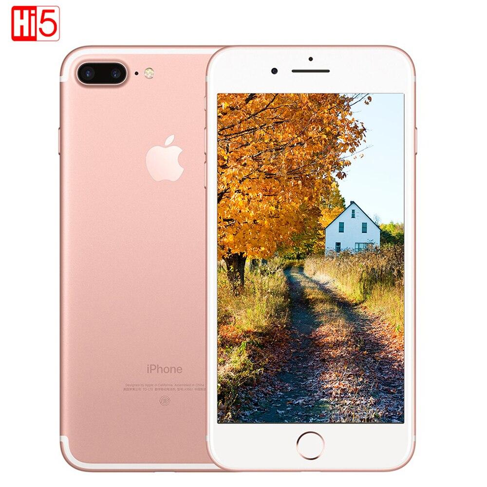 Desbloqueado Apple iPhone 7 Plus 3 GB RAM 32 GB 128/256 GB ROM Quad-Core huella dactilar 12MP IOS LTE 12.0MP Cámara teléfono móvil smartphone