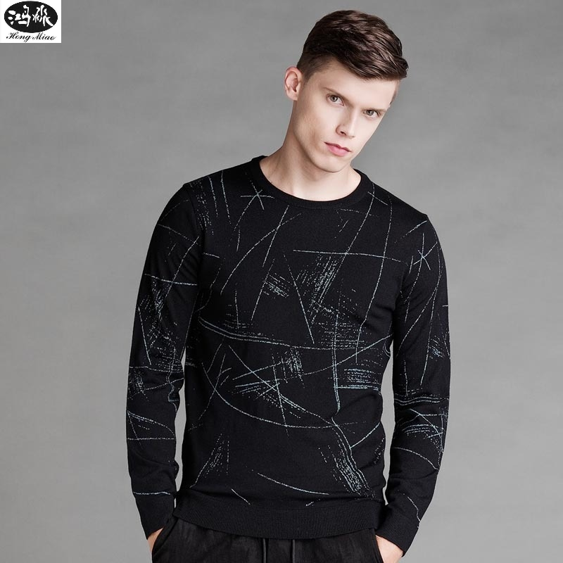 Autumn Sweater 2018 Men O-neck Solid Color Long-sleeves Knitted Casual Pullovers High Quality Simple Tops