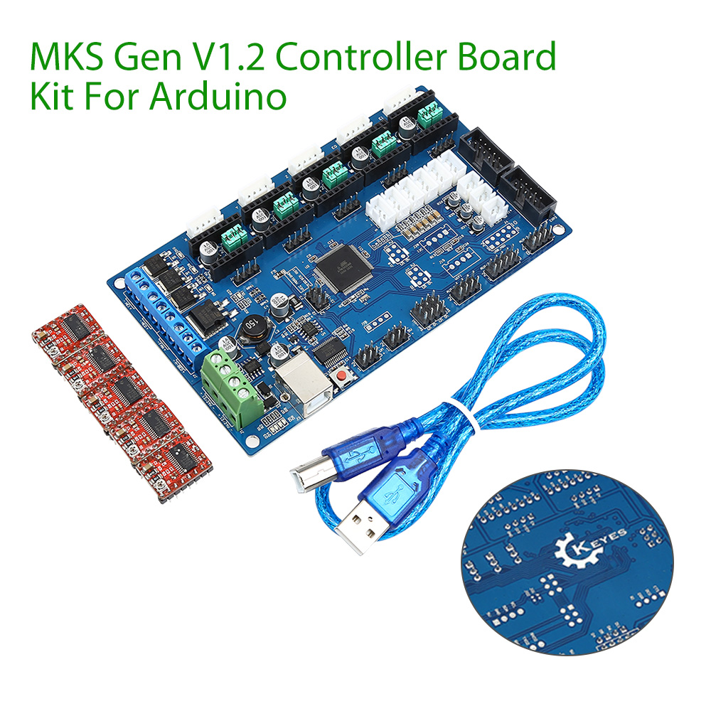 Keyes 3D printer control board MKS Gen V1.2(with USB line and DRV8825 drive) for arduino Free Shipping