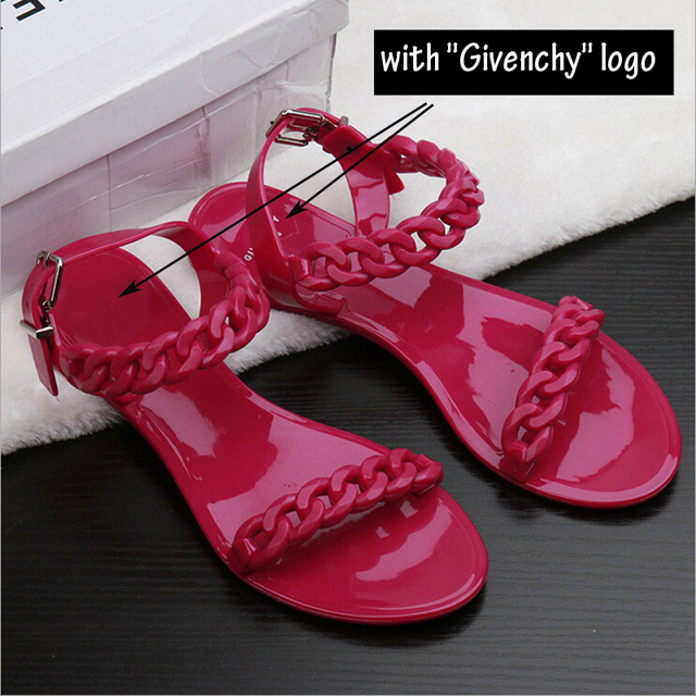 Women's New Trendy Plastic Chain Sandals