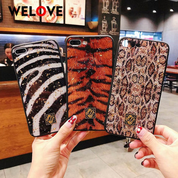 Fashion Sexy Leopard Tiger Zebra phone Case for iPhone xs max case soft Capa for iPhone 8 7 6 6S Plus X XS XR Glitter Girl Cover marvel glass iphone case