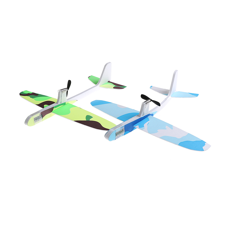 Creative New Foam EVA Capacitor Electric Airplanes Hand Throwing Glider Aircraft Inertial Model Airplane Outdoor Toy image