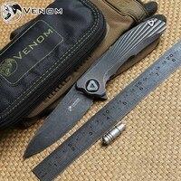 السم 3 مفهوم جديد كيفين جون للطي كروي زعنفة مجموعة السكاكين s35vn بليد التيتانيوم مقبض السكين أدوات