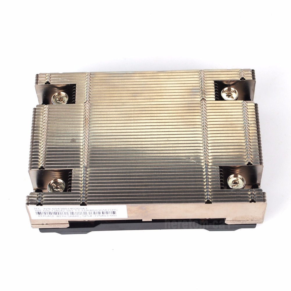free ship Cooling Heatsink Heat Sink 734042-001 FOR DL360 Gen9 735508-001 synthetic graphite cooling film paste 300mm 300mm 0 025mm high thermal conductivity heat sink flat cpu phone led memory router