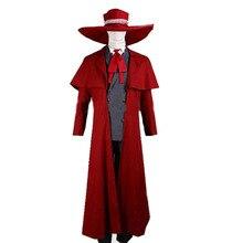 2016 Nuevo vampiro cazador Cosplay Hellsing Alucard disfraces fresco hombre  traje y alto contenido de algodón abrigo largo mejor. d06c65efd272