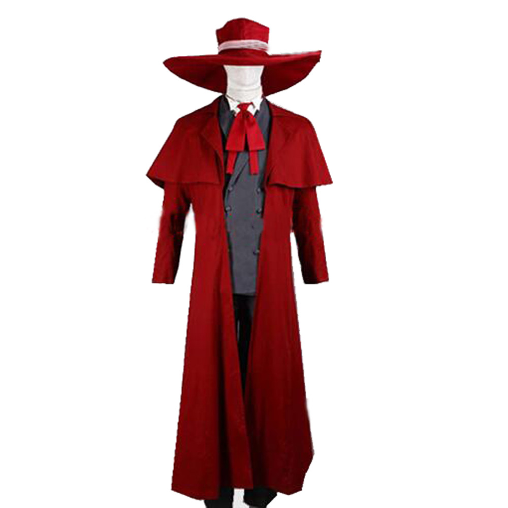 2016 New Vampire Hunter Cosplay Hellsing Alucard Costumes Cool Man Suit and High Cotton Content Long Coat Best Outfits секатор frut club 402308