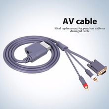 1.8M HD AV connecteur Audio vidéo câble VGA 2RCA convertisseur câble pour Xbox X   360