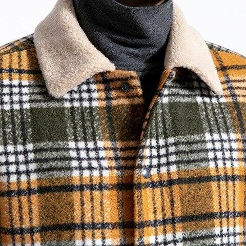 SIMWOOD 2019 Winter Men Jackets Fashion Plaid Casual Blends Jackets Warm Coats Men Outwear Brand Jacket abrigo hombre 180604 Karachi