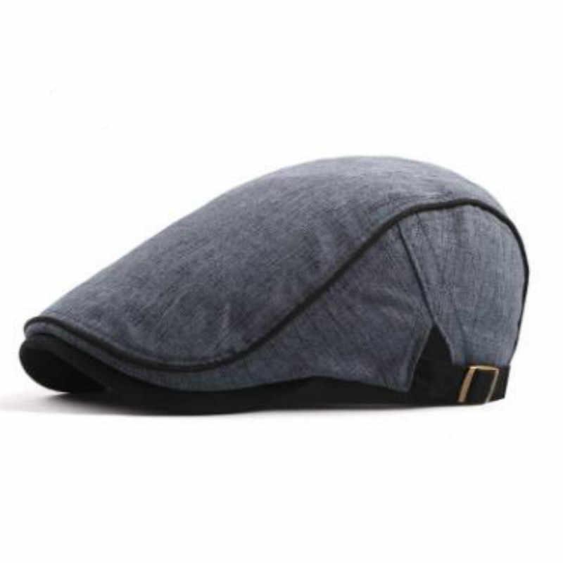 Который в душе хлопок однотонный берет для женщин Регулируемая плоская кепка мужская пустая французская фуражка винтажные Полями Летняя шляпа bone gorras