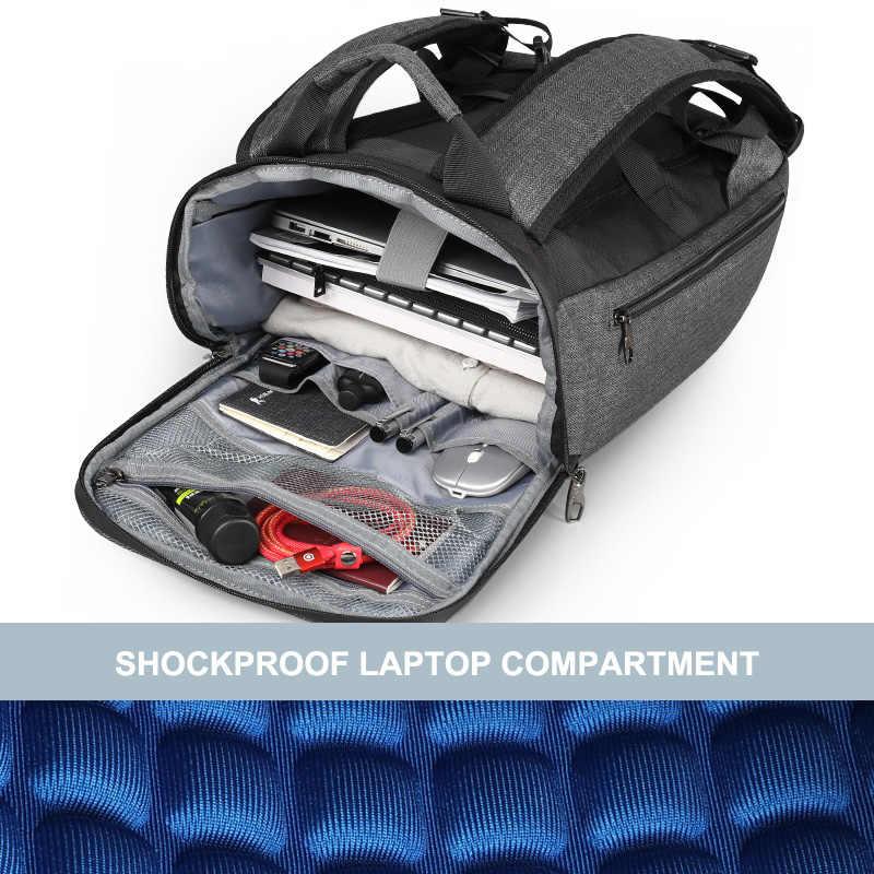 Tigernu Waterdichte Rugzak Met Romovable Taille Belt Bag Mannen Vrouwen Usb Opladen Mochila Fit 15.6 Inch Laptop Reistassen