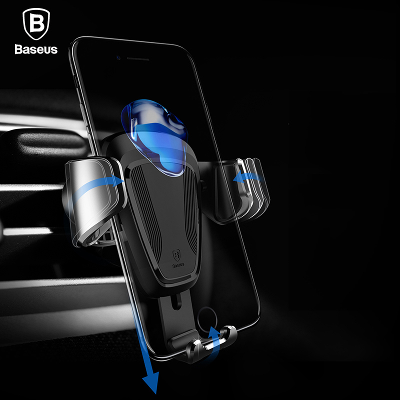 Baseus Gravity Car Holder For iPhone X 8 Samsung S9 S8 Mount Holder For Phone In Car Mobile Phone Holder Stand For Phone Holder