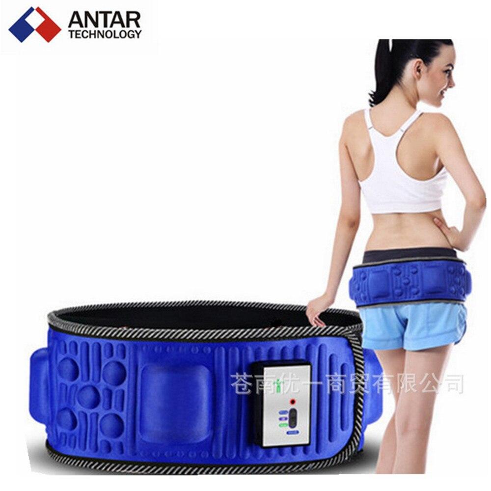 AT0432 Vibro shape vibration heated multinational massager belt slimming belt lower back pain waist massager(China (Mainland))
