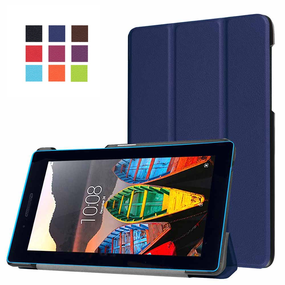 Folding Stand Leather Ultra Slim Protect Case for Lenovo Tab3 7.0 7 Essential 710I 710F 7'' Tablet Accessories