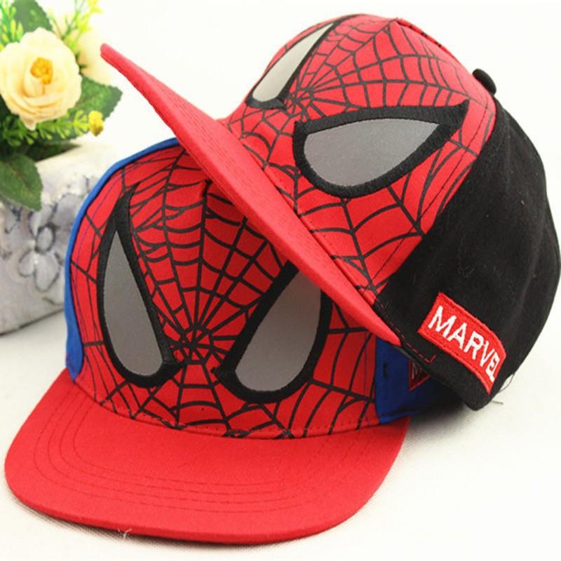 Nueva moda niños Cartoon Spiderman niños Gorras de béisbol