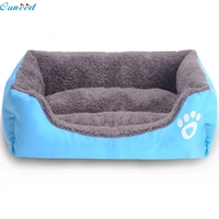 Ouneed home Soft Cat Bed Winter House for Cat Warm Cotton Dog Pet Products Mini Puppy Pet Dog Bed Soft Comfortable Pet Sofa