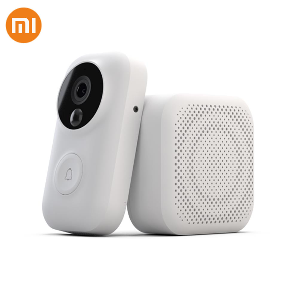 New Xiaomi Mijia Zero AI Face Video Doorbell 720P IR Two Way Audio Video Motion Detection SMS Push Intercom Free Cloud Storage