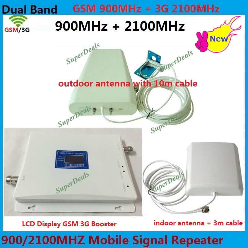 65dBi 2g GSM repetidor 2100 mhz 900 mhz e 3g impulsionador Celular Amplificador de Sinal de Telefone Móvel Impulsionador lte UMTS Celular amplificador