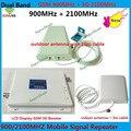 Lo nuevo LCD 65dBi GSM 3G 900 2100 MHz de Doble Banda celular Teléfono Móvil Amplificador Amplificador de Señal, GSM 3g Celular amplificador de Señal UMTS repetidor