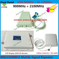 Newest LCD 65dBi GSM 3G 900 2100 MHz Dual Band Cell Mobile Phone Signal Booster Amplifier,GSM 3g UMTS Cellular Signal Repeater