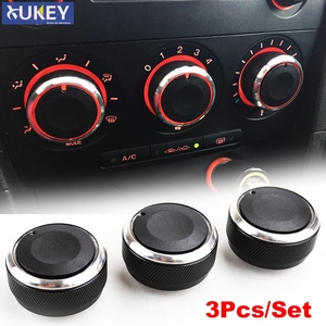 3PCS FOR MAZDA3 MAZDA 3 M3 2003-2008 SWITCH KNOB KNOBS HEAT HEATER CONTROL BUTTONS DIALS A/C AIR CON COVER 2006 2005 2007 2004(China)