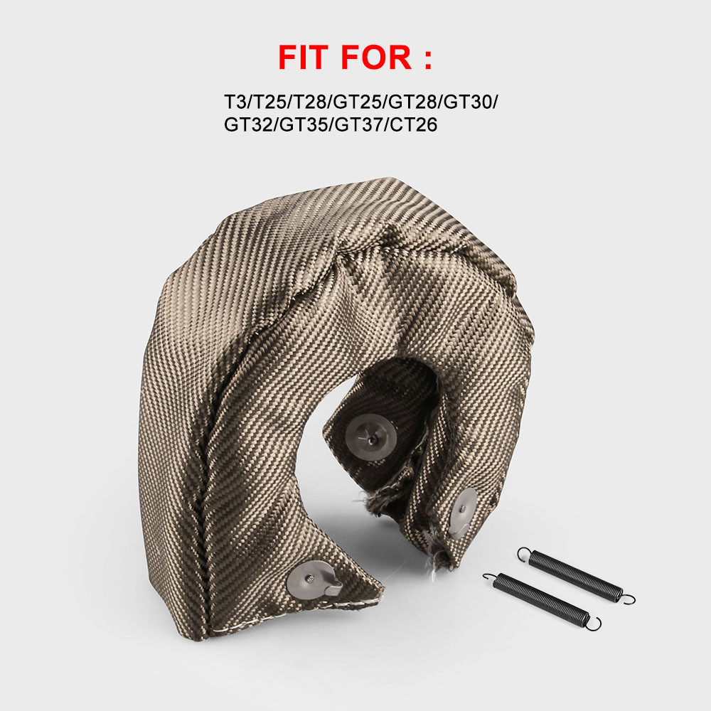 FIFAN-TITANIUM <font><b>T3</b></font> <font><b>turbo</b></font> <font><b>blanket</b></font> <font><b>turbo</b></font> heat shield fit for t2 t25 t28 gt28 gt30 gt35 and most <font><b>t3</b></font> <font><b>turbo</b></font> JR1303-2T/TBF03 image
